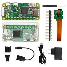 Raspberry Pi Zero W-Kit de iniciación + carcasa de acrílico + cabezal GPIO + disipador de calor CPU 1GHz 512Mb RAM RPI 0 W