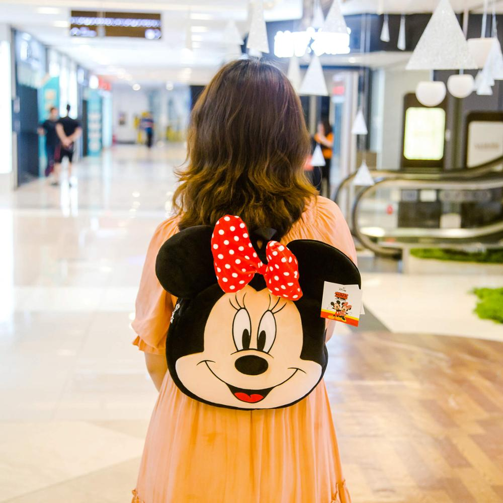 Cartoon Mickey Minnie Adjustable Backpack Toy Story Cute Plush Toy Soft Bag Anime Purse Shopping Birthday Gift For Child Girl