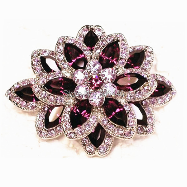 Marquiese Crystal and Rhinestone Diamante Wedding Flower Brooch