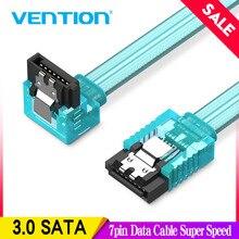 Vention Cable de datos Sata 3,0 de 7 pines, unidad de disco duro HDD Sata III de supervelocidad, ángulo recto para placa base ASUS Gigabyte MSI de 0,5 m