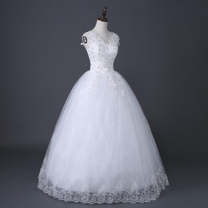 Image 2 - Desinger Simple Lace Wedding Dresses Custom made Cheap Bridal Gowns Vestido De Noiva Vintage Under 100-in Wedding Dresses from Weddings & Events