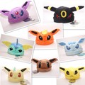 1 Piece Cute Soft Warm Plush Pokemon Winter Hat Umbreon Espeon Jolteon Flareon Eevee Leafeon Glaceon Vaporeon Cap Gift for Adult