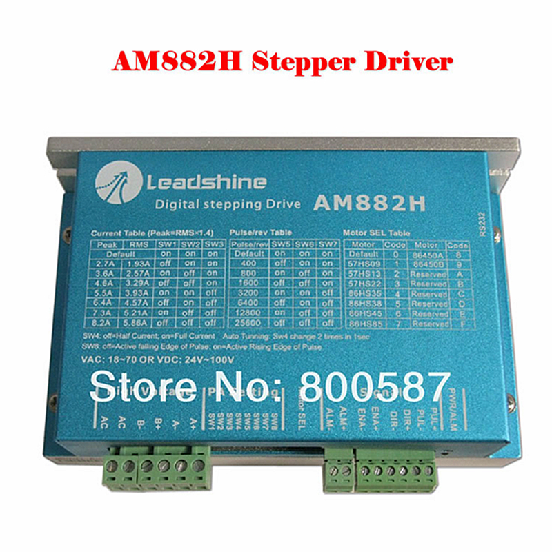 High precision stepper drive Leadshine 2 phase AM882H Digital step motor driver leadshine am882 stepper drive stepping motor driver 80v 8 2a with sensorless detection
