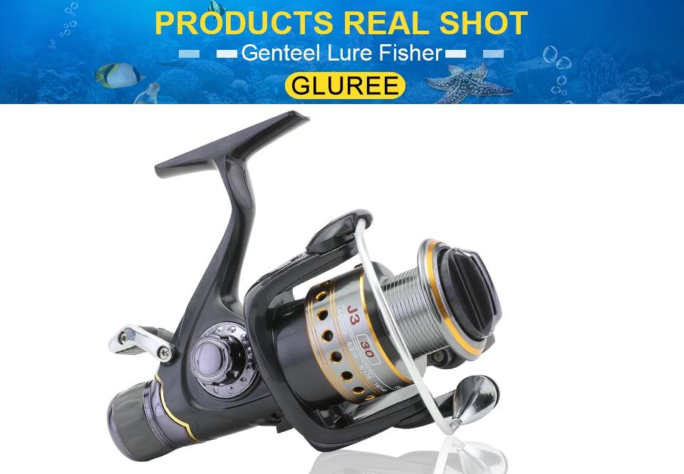 GLUREE Saltwater Spinning Fishing Reel 5.51 9+1BB Metal Spool Sea Boat Dual Brake Carp Fishing Reels With Extra Spool 3000-5000 (21)