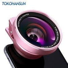 TOKOHANSUN 카메라 렌즈 4k HD 0.6x 와이드 앵글 + 15x 매크로 렌즈 for IPhone 7 6s 5s 8 X XS se plus 휴대 전화 스마트 폰