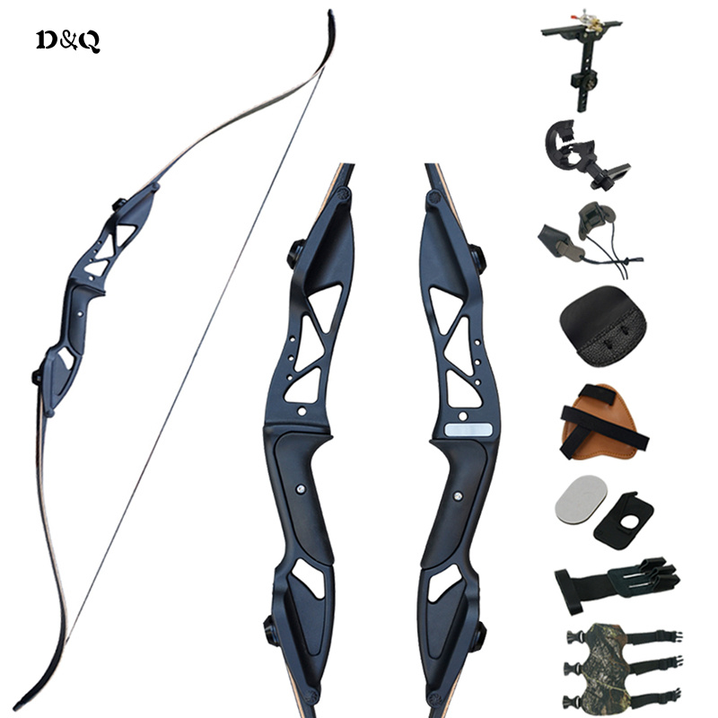 Archery Recurve Bow Arrows Hunting Set 30-50lbs for Shooting Target Practice Sport Aluminum Alloy Right Hand Takedown Long Bow 60 archery recurve bow takedown american hunting estilingue bow 30 50lbs right hand target shooting archery accessories