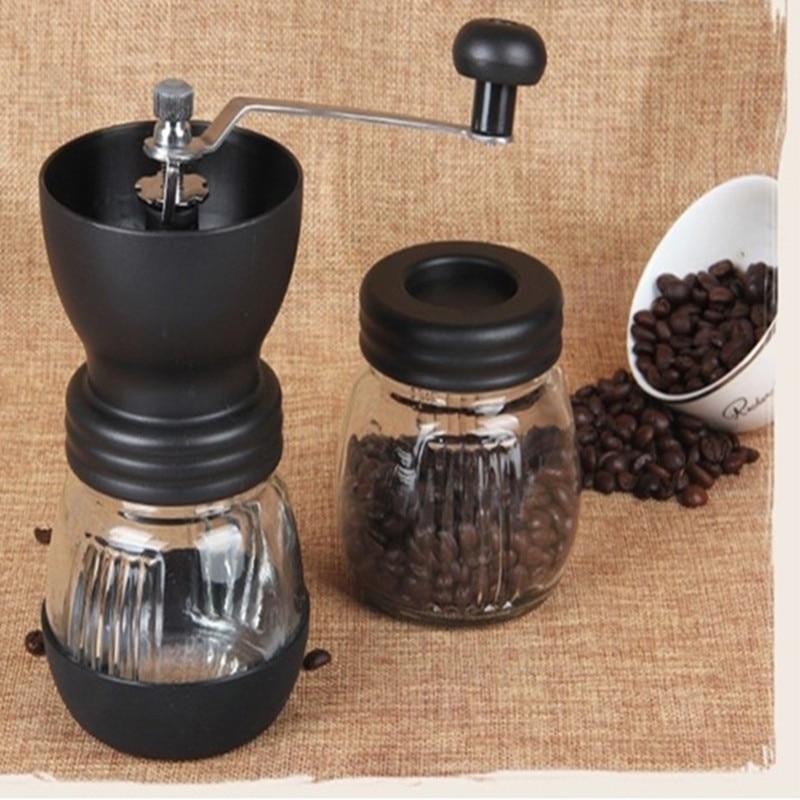 цена на CG01-1, free shipping,Ceramics coffee bean grinder with canister set,coffee grinder,hand Grinding machine,Manual coffee grinder