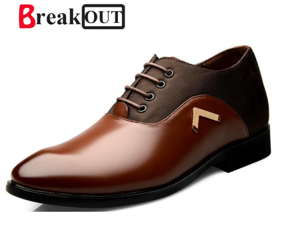 Break Out In Stock New Mens Oxford Shoes Genuine Leather Fashion Dress Office Luxury Autumn For casual Shoes Men shoes Big Size new in stock zus64815