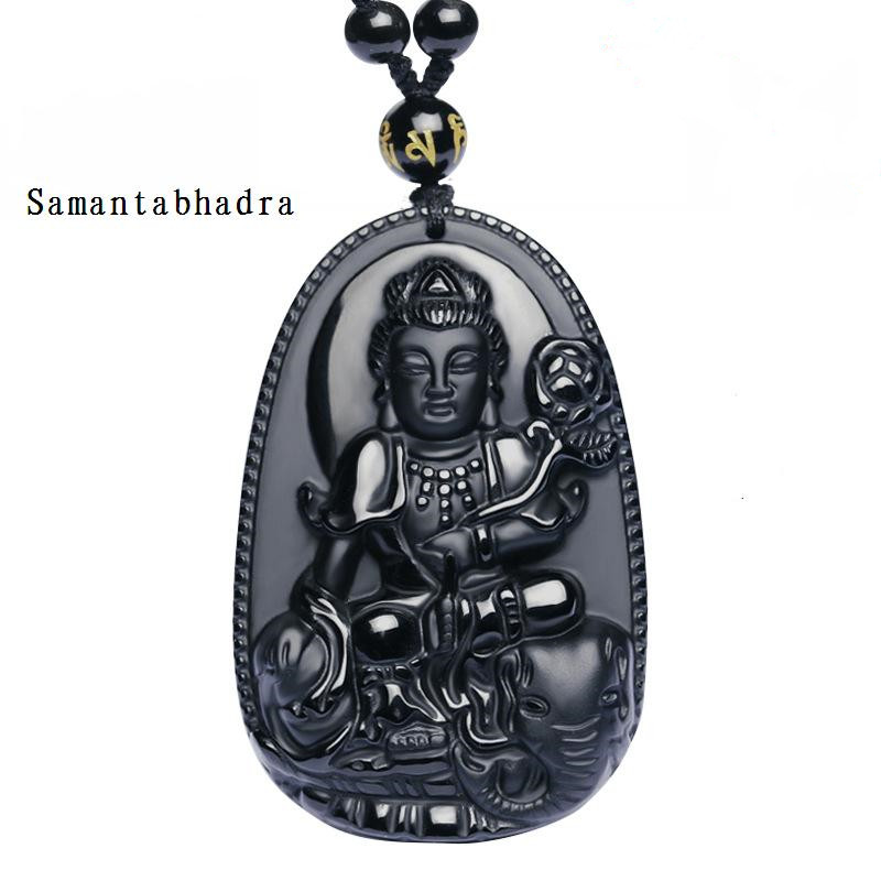 49*32mm High Quality Natural Black Obsidian Carved Buddha Lucky Amulet Pendant Necklace For Women Men pendants Gift Jewelry Gift