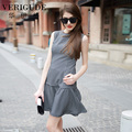 Veri Gude Women Plaid Dress Fit and Flare Ladies Summer Dress