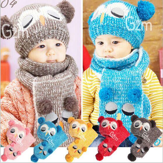 Bonito bebé invierno sombrero bebé hueso gorro para niño nuevo diseño del  búho de los niños 1f9b31304f7