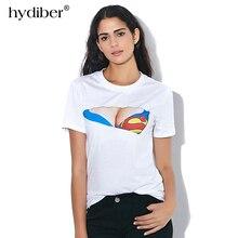 1767b64f155f7 New Fashion Women 3D Funny Print Fake Naked Big Chest Bra T-Shirt Tops  Cotton