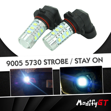 Modifygt 2Pcs Driving Car LED H4 H7 9006 HB4 9005 HB3 H10 5730 P13W auto Fog light Lamp strobe/stay on car accessories