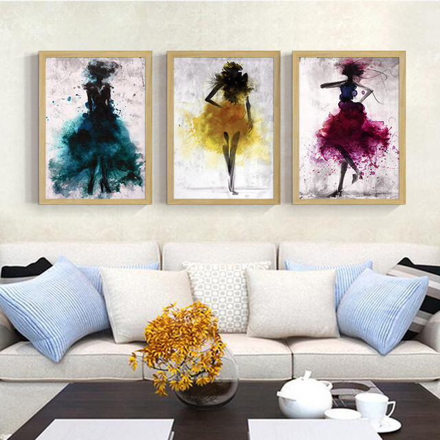 living room posters. Modern Abstract Fashion Beauty Art Canvas Painting Prints Posters Wall  Pictures For Living Room Home Aliexpress com Buy