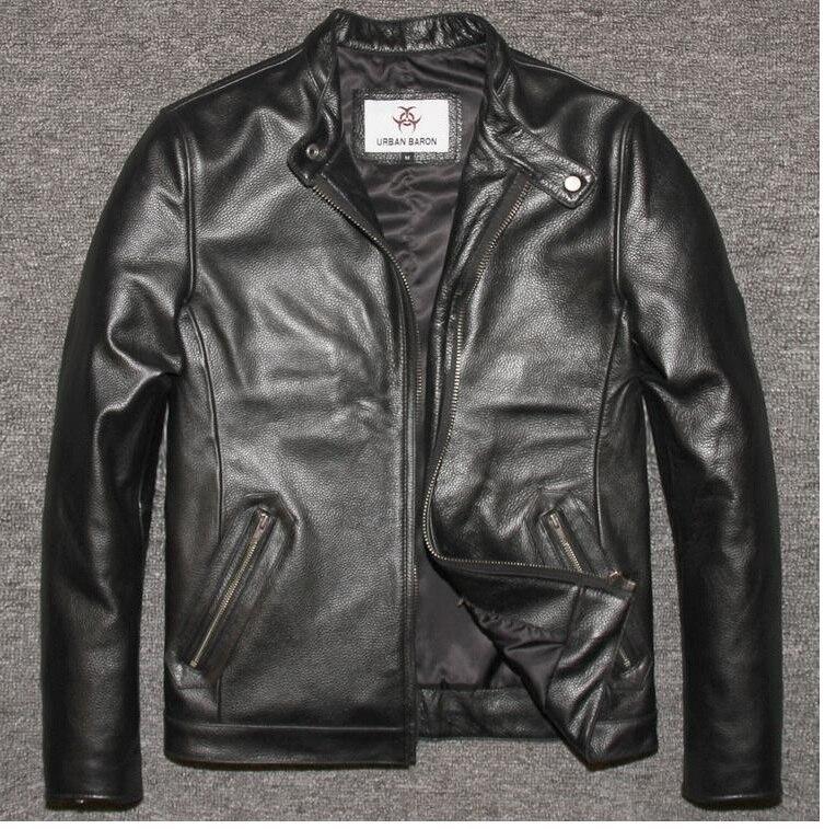 Livraison shipping.2016 nouvelle hiver chaud DHL Marque vêtements hommes vache en cuir Vestes, hommes de Cuir véritable motard veste. moto