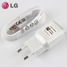 цена на Original LG G3 Wall Charger with Micro USB Cable Travel Charger FOR LG G3 F460 D855 G2 F260 Nexus 5 E980 1.8A EU LG Charger