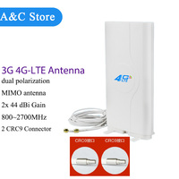 5pcs/lot 4G LTE antenna 800~2700MHz MIMO WiFi Antenna CRC9 NETGEA SIERRA