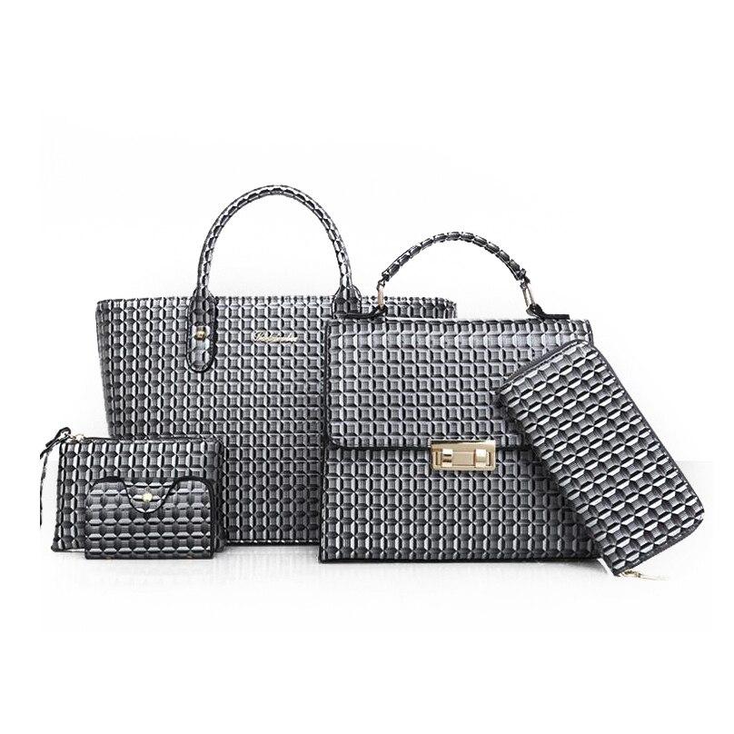 98c852dbd858 Dropwow 6 Pcs Set Women Leather Handbags 2018 Fashion Designer ...