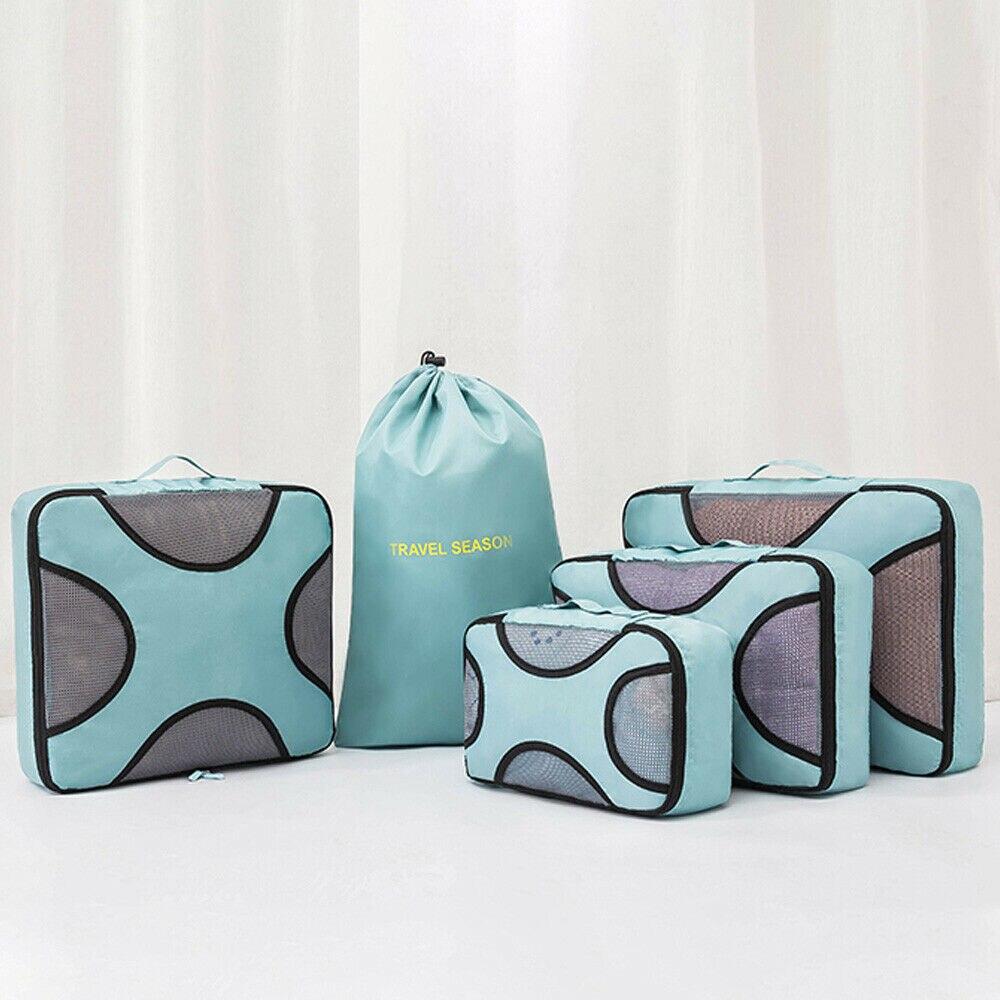 5 Sets Travel Organizer Bag Clothes Portable Large Capacity Storage Case Luggage Suitcase New Fashion Style