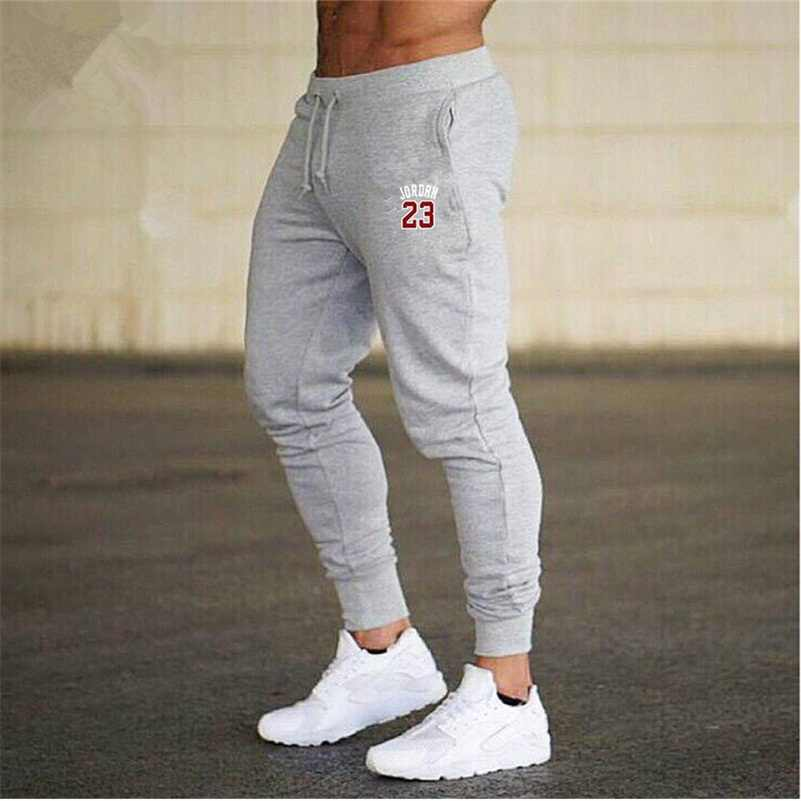 3b2d9fc5bb4fd3 2018 Winter Men s Red jordan 23 Print Trousers Sweatpants Leisure Men  Joggers pants Cotton Slim fit