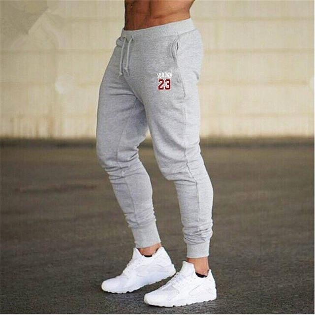 b989fd87ba9 2018 Winter Men's Red jordan 23 Print Trousers Sweatpants Leisure Men  Joggers pants Cotton Slim fit Men Gym Muscle Elastic Pants