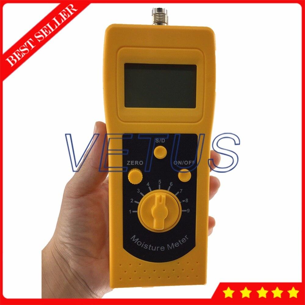 Medidor digital de humedad de arena plateada LCD de alta frecuencia 4 para el analizador de humedad del polvo de carbón del contenido del suelo DM300S