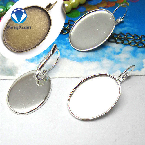 20mm Cabochon Pendant BlanksSaw Tooth EdgingSilver Plated10pcs