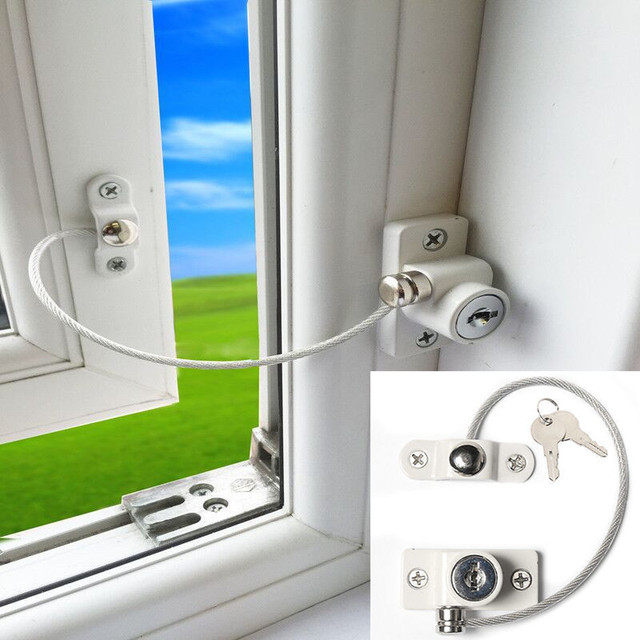 2 шт. Детская безопасность замок окна, двери кабель вентилятор дети замок ребенок замок безопасности с ключом открытие ограничитель для защиты ребенка