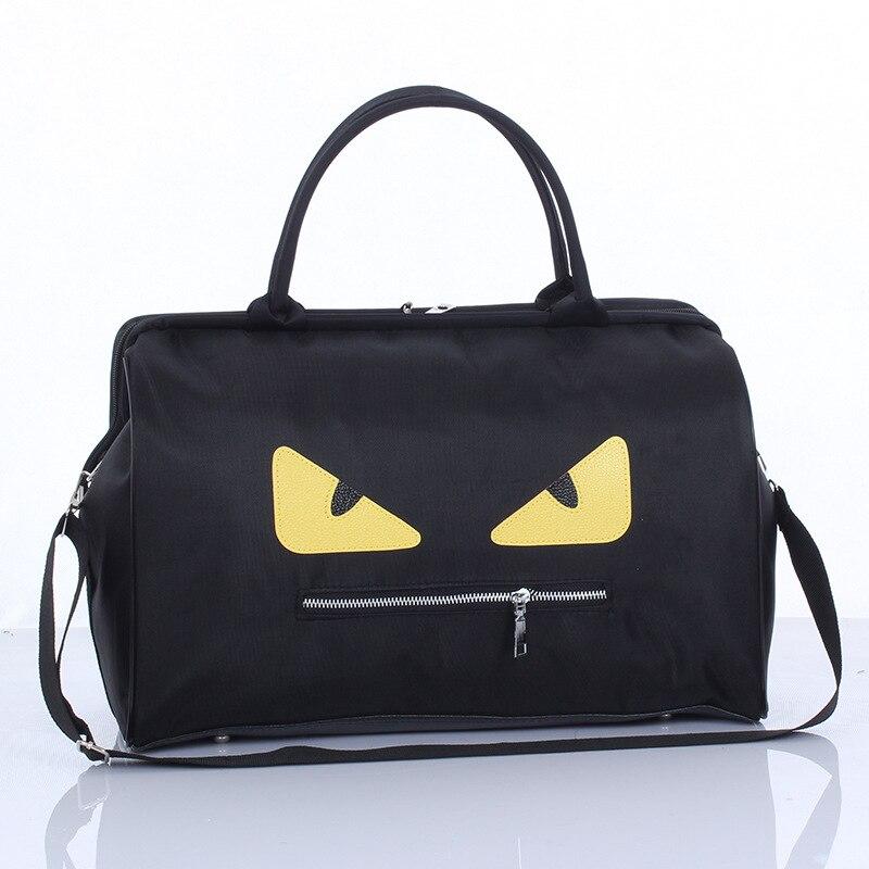 Для Мужчин's Бизнес дорожная сумка большой емкости Чемодан с короткими рукавами Для мужчин; маленький монстр шаблон личности Чемодан сумка