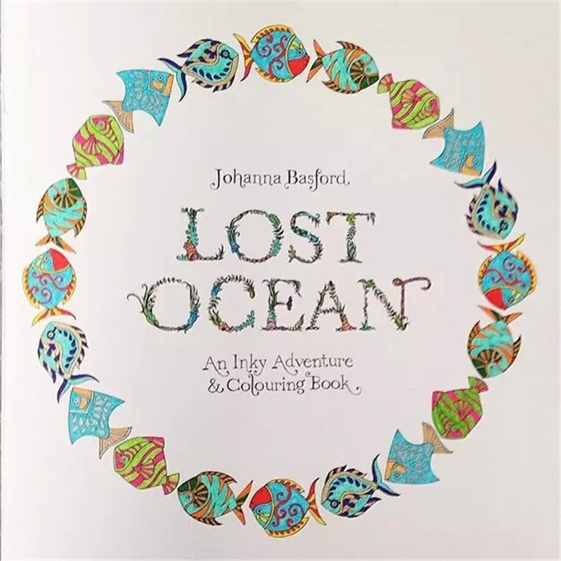 2015 Anti Stress Lost Ocean Inky Hunt Coloring Books For