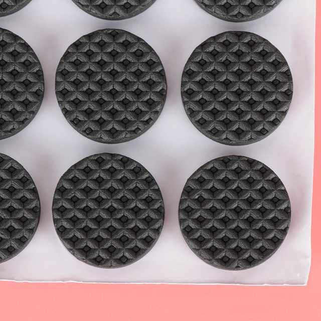 48 Pcs Non-slip Self Adhesive Furniture Rubber Table Chair Feet Pads Round Square Sofa Chair Leg Sticky Pad Floor Protectors Mat 3