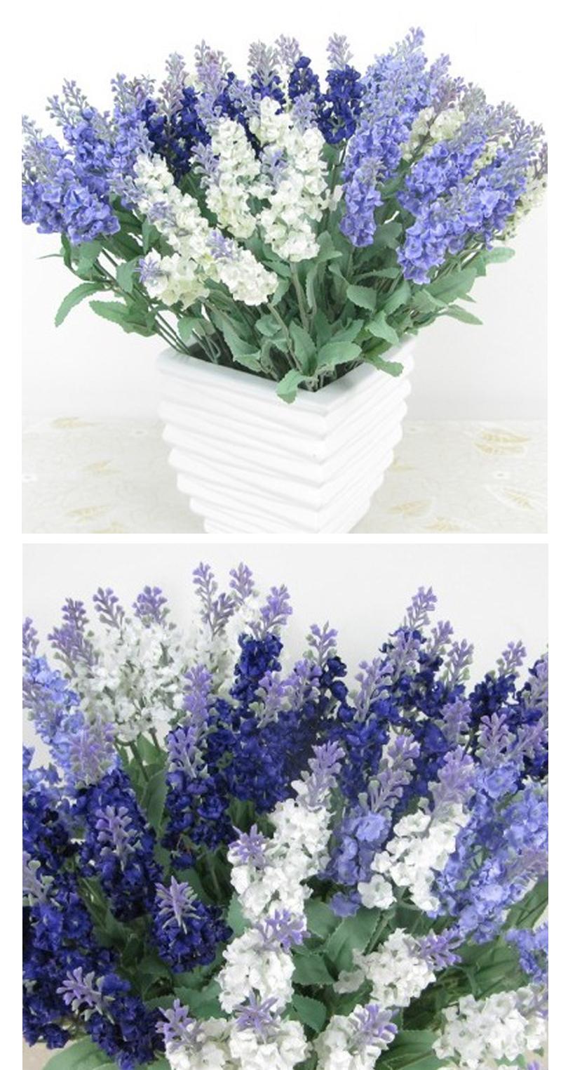 Shimzh Bulk Artificial Lavender Flowers For Wedding 4pcslot Love
