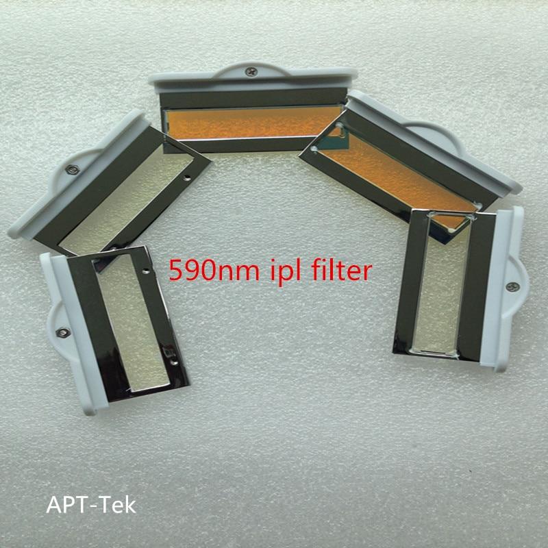5 piece 590nm IPL filter for e-light shr handpiece hair removal skin rejuvenation