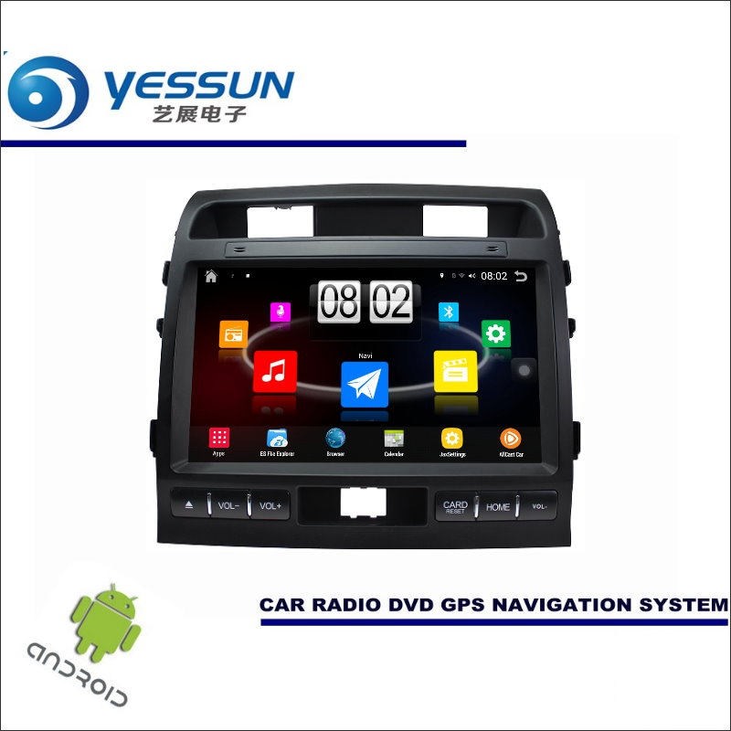 Yessun автомобиля Android мультимедийный плеер для Toyota FJ Cruiser gsj15w Радио стерео GPS Географические карты nav Navi (без cd dvd) 10.1 HD Экран