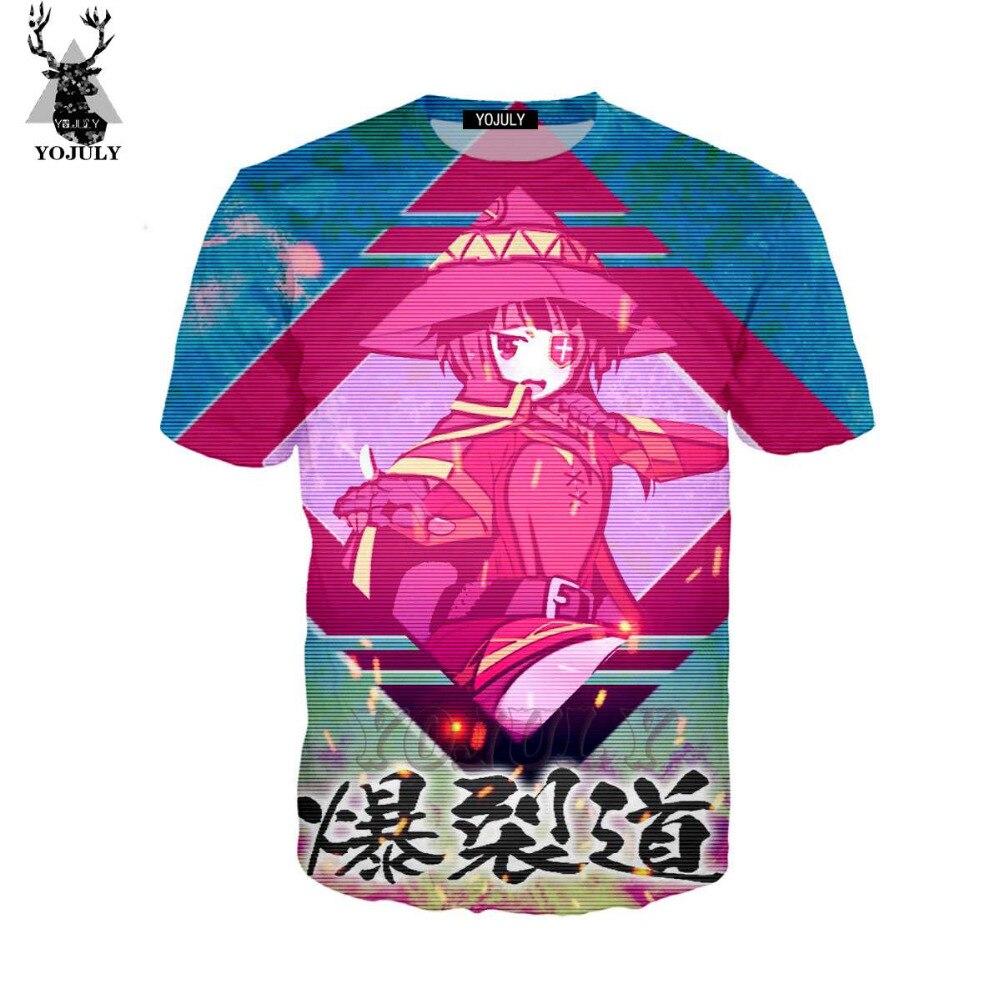 YOJULY 3D Print Unisex Anime Konosuba Megumin Vaporwave Casual O-neck T-shirt/Tshirt/Sweatshirt/Hooded Hoodies/Zipper Tops 115