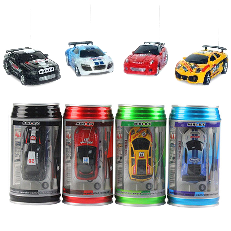 Remote Control Coke RC <font><b>Car</b></font> toys Jar Truck Mini pop-top <font><b>cars</b></font> RC <font><b>Car</b></font> 4 colors random delivery <font><b>Electronic</b></font> <font><b>kids</b></font> boy Birthday toys image