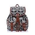 Hot Sale National Canvas Women Backpacks Brand Design Anchor Floral Printing Ethnic Shoulder Bag Tassel Drawstring Knapsack CC67