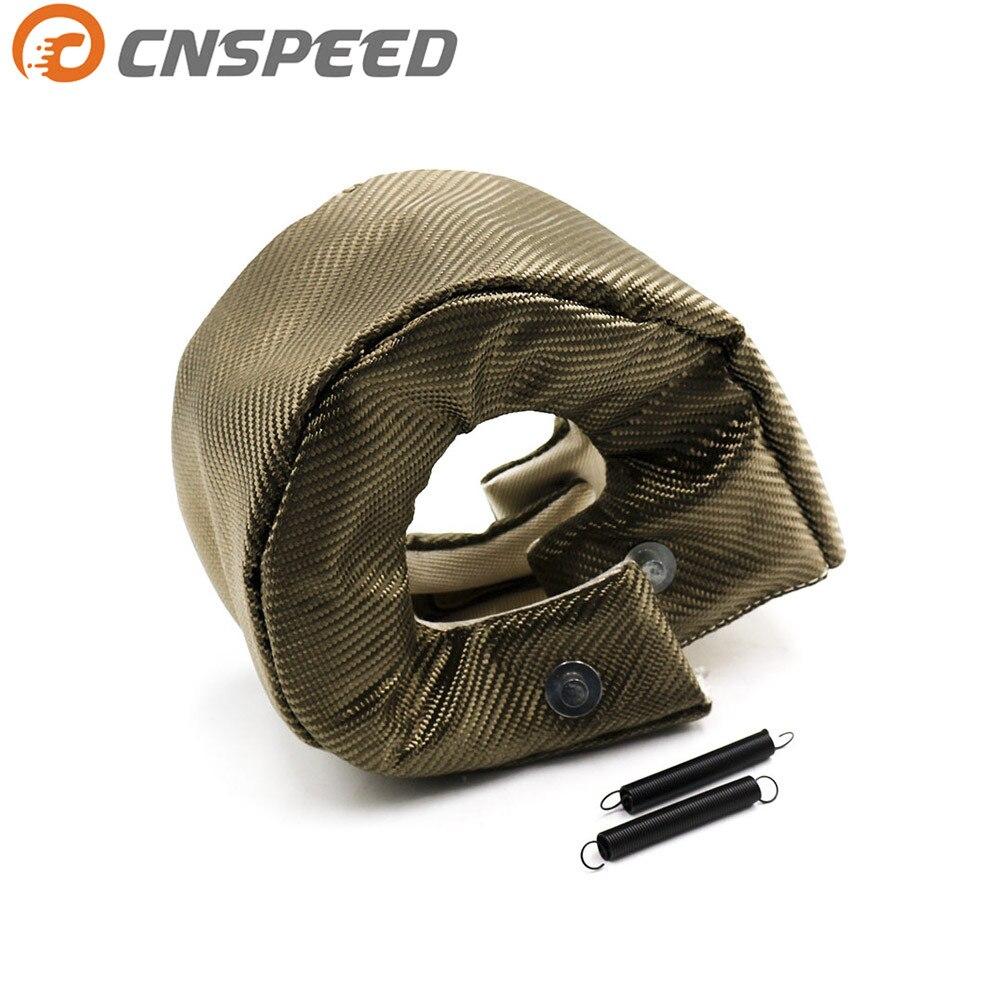 Livraison Gratuite CNSPEED Titane T6 Turbo Chargeur Couverture Turbo Blanket Heat Shield Couverture Haute Qualité T6 Turbo Couverture Couverture