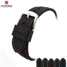 AOOW универсальный ремешок для часов силиконовый резиновый ремешок для часов водонепроницаемые 20 мм 22 мм 24 мм 26 мм ремень для часов