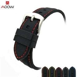 AOOW универсальный ремешок для часов из силиконовой резины, водонепроницаемые ремешки для часов 20 мм 22 мм 24 мм 26 мм