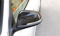 2 pieces / set Carbon Fiber Car styling Side Wing Mirror Cover Full trim For BMW 5 series F10 5GT F07 2014 2015 Accessories