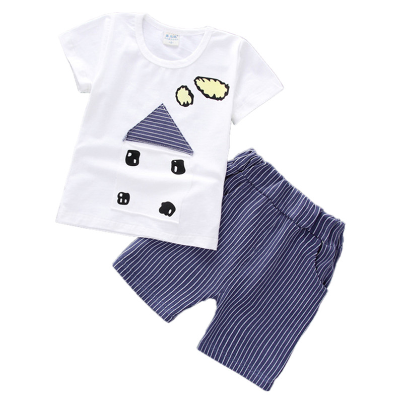 Baby Boy Clothes Summer 2018 Newborn Baby Boys Girls Clothing Set Cotton Baby Clothing Suit (Shirt+Pants) Infant Clothes Set