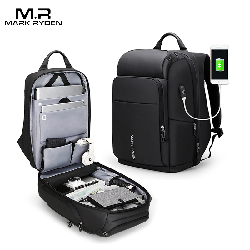 Mark Ryden 15 inch Laptop Backpack For Men Waterproof Functional Bag With USB Port Male Travel
