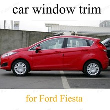 font b Exterior b font Accessories For F ord Fiesta Stainless Steel Styling Car Window