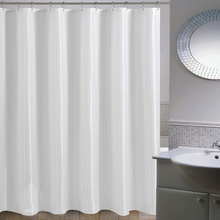 high quality mildewfree fabric extra long shower curtain liners for bathroom weight hem white diamond with ring