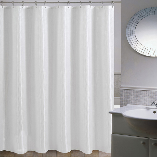 High Quality Mildew Free Water Repellent Fabric Extra Long Shower Curtain Liners For Bathroom