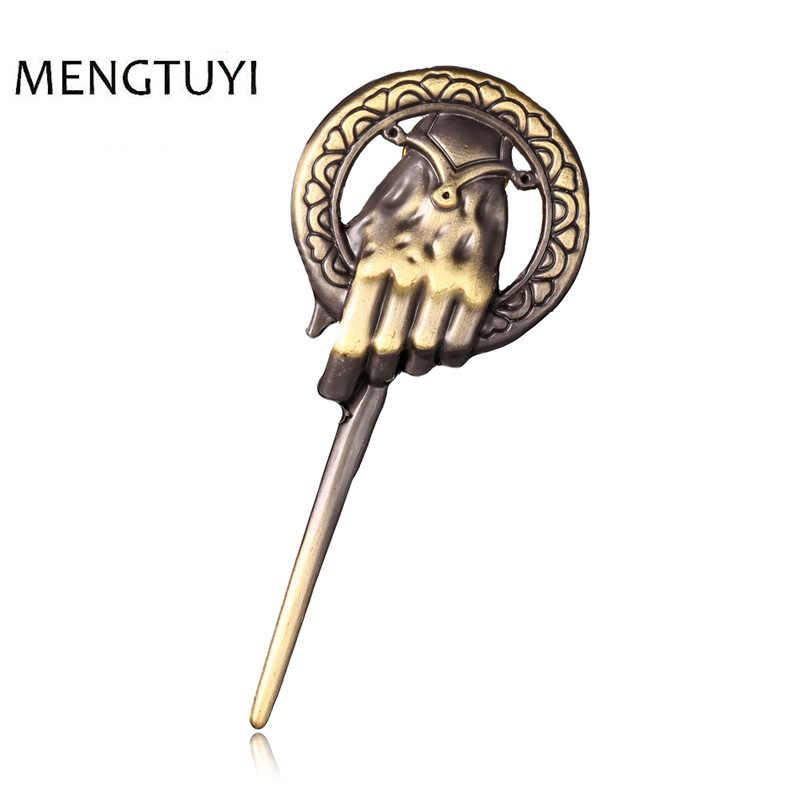 J mağaza Oyun Thrones Buz Şarkısı ve Yangın Broş El Kral Yaka Inspired Otantik Pim Pimi rozeti Broşlar