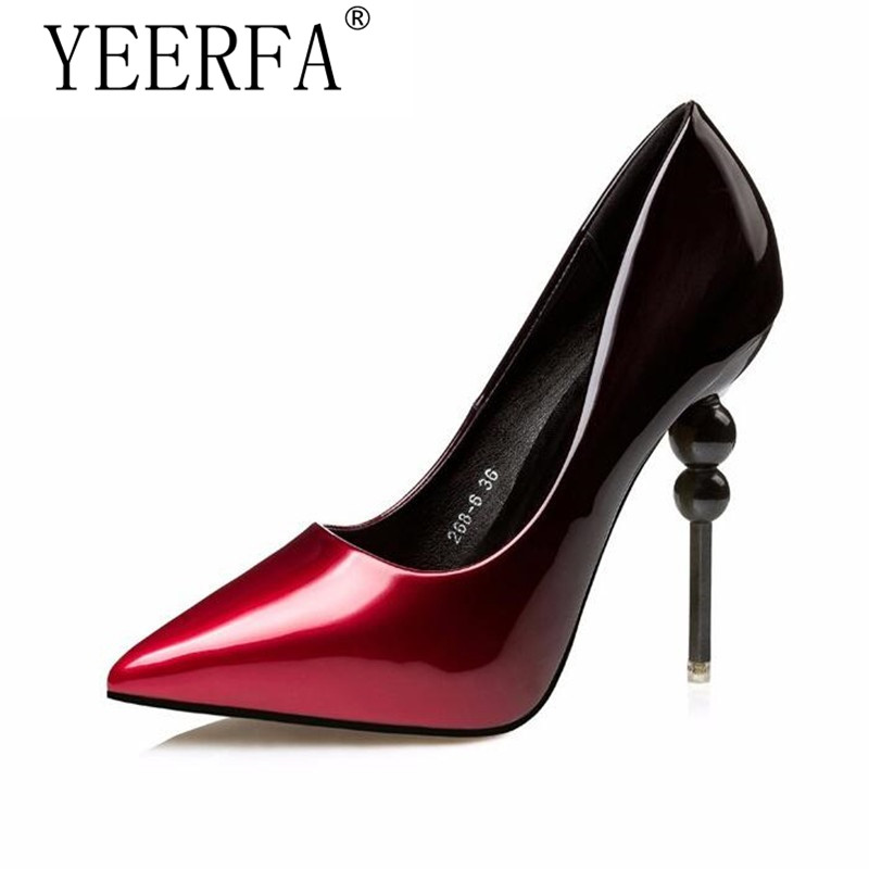 YEERFA wedding shoes pumps dress shoes womens pumps pointed toe high heels pumps womens heels bride shoes party silver pumps