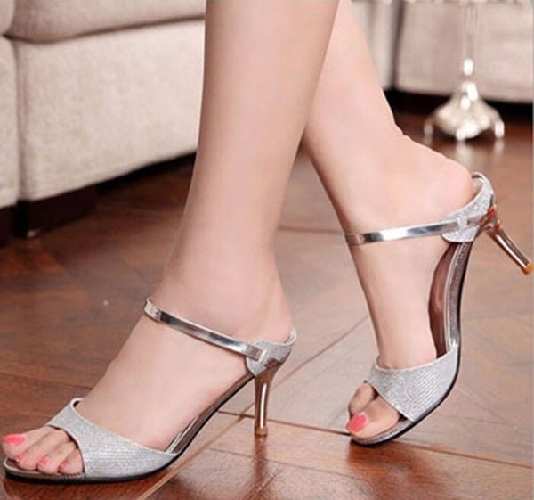 women High heeled sandals fashion 2016 new sexy high heels sandals with bright women summer pumps