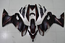Body Kit Ini Adalah 650 2009-2010 Masalah Hitam Garis Merah Fairings Ini Adalah 650 2009 Full Body Kit ER6N 2009(China)